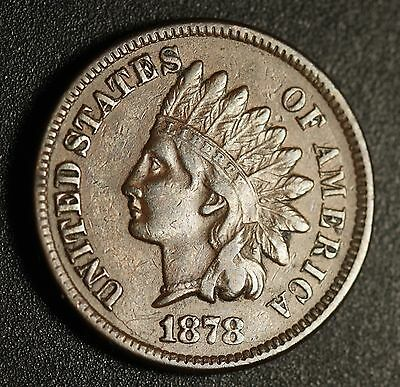 1878 INDIAN HEAD CENT With LIBERTY - VF VERY FINE
