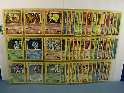 Complete 132 Gym Challenge Pokemon Card Set..132/132..ALL MINT..NEVER PLAYED