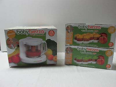Baby Brezza One Step Food Maker Original 2 OCTO Storage System Sets BPA Free