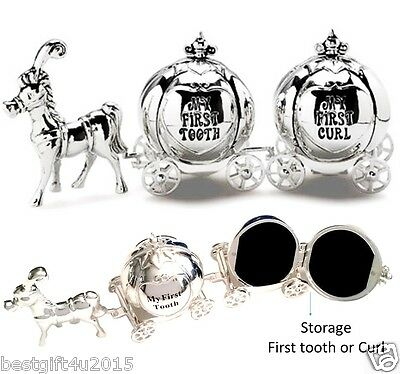 Cinderella Money Trinket Box Carriage First Tooth & Curl Baby Christening Gift
