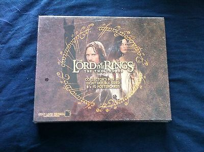 LOT OF 2 Lord of the Rings Collector's Box Set 8 Double Sided 8 X 10 Postcards