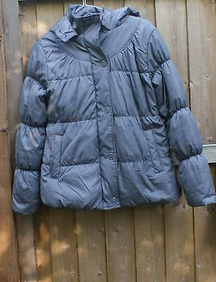 M&S grey puffer hooded coat age 11- 12 yrs
