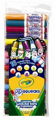 Crayola Pip-Squeaks Wacky Tips Markers - 16 pack in 16 colours