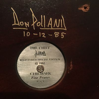 Don Polland Chilmark Fine Pewter The Cheif 1982 Signed # 1106