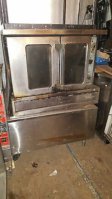 Sunfire Single Natural Gas Commercial Convection Oven US Range Garland on Stand