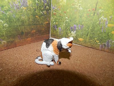 2010 Retired Schleich Calico Cat Grooming #13675 Excellent Condition