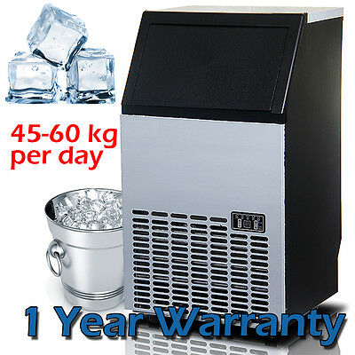45~60KG /Day Commercial Ice Maker Portable Cube Machine Auto Snow Home Business