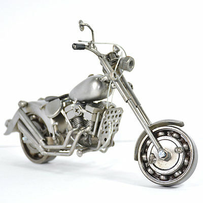 Harley Davidson : Motorcycle / Bike Model Metal Art Sculpture - Handmade (26cm)