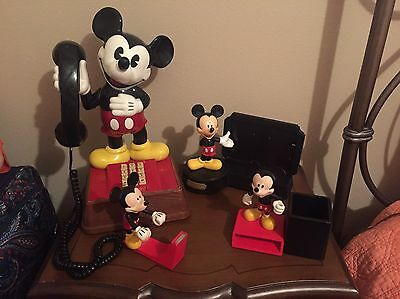 Mickey Mouse phone And desk Set