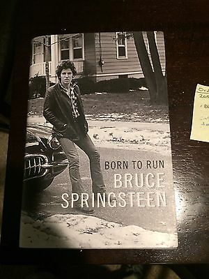 Bruce Springsteen Autographed Born To Run Autobiography