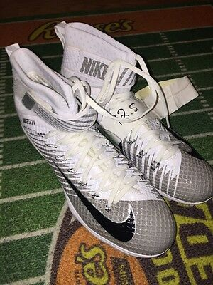 Sean Lee 50 Dallas Cowboys Nike Lunarbeast Game Used Worn Cleats 1/1 Rare