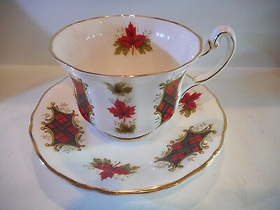 ROYAL ADDERLEY MAPLE LEAF TARTAN CUP AND SAUCER SET MADE IN ENGLAND set #9
