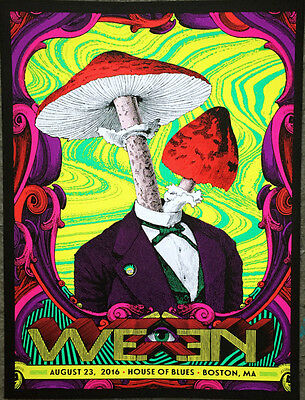 Ween - 2016 - House Of Blues - Boston - Nate Duval  - Tour Poster