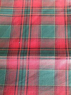 Longaberger Cracker Basket Liner - Evergreen Plaid