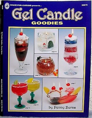 """""""Gel Candles: Goodies"""" Candle Making Design, Project & Instruction Craft Book"""