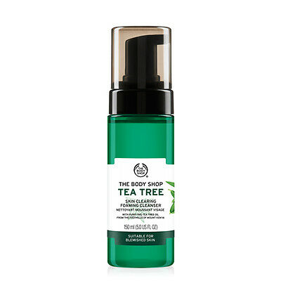 New Vegan/Vegetarian The Body Shop Foaming Facial Cleanser Tea Tree Extract