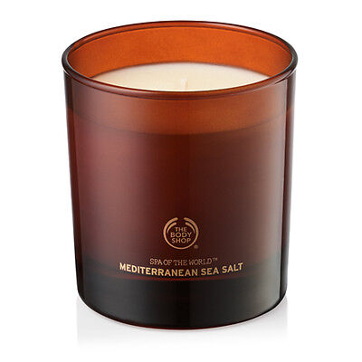 New The Body Shop Spa Of The World Mediterranean Sea Salt Candle
