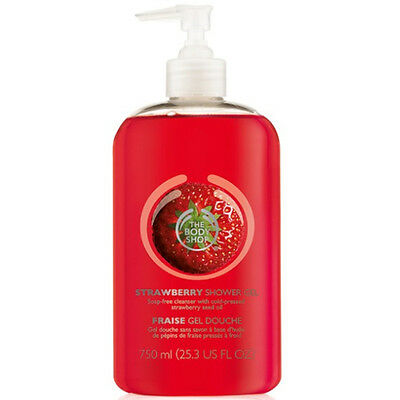 New Vegetarian The Body Shop Shower Gel Strawberry Scent Jumbo Soap-Free