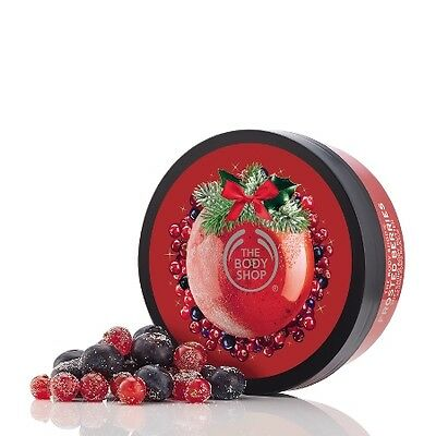 New The Body Shop Frosted Berries Softening Body Butter