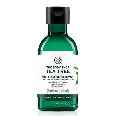 New Vegan/Vegetarian The Body Shop Body Wash Skin Cleanser Tea Tree Extract