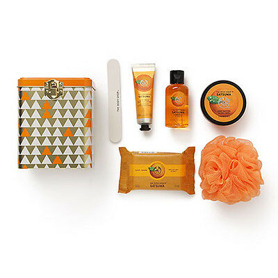 New Vegetarian The Body Shop Gift Box Satsuma Scented Collection Tin Canister