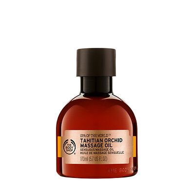 New Vegetarian The Body Shop Massage Oil Tahitian Orchid Scent Sensuous