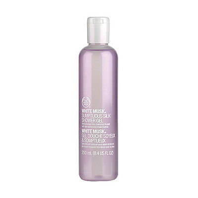 New The Body Shop White Musk Sumptuous Silk Shower Gel