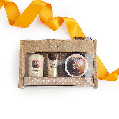 New The Body Shop Shea Beauty Bag