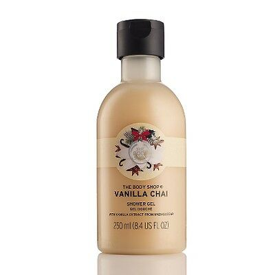 New The Body Shop Vanilla Chai Shower Gel