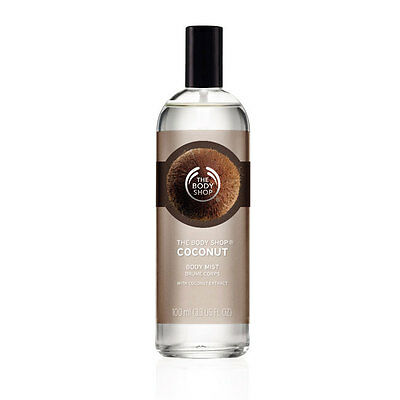New Vegetarian The Body Shop Body Mist Spray Coconut Scent Light and Fresh