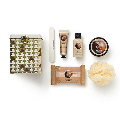 New Vegetarian The Body Shop Gift Box Shea Scented Collection Tin Canister