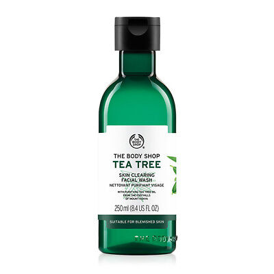 New Vegan/Vegetarian The Body Shop Facial Wash Skin Clearing Foaming Gel Tea Tre