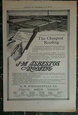 Asbestos Roofing Ad pre 1919 advertising page