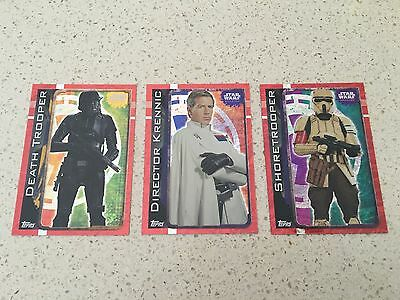 Star Wars - Rogue One (TOPPS collector cards) 3 x Rainbow Foil Insert Cards Lot