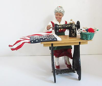 Clothique Possible Dreams Sew Ho Ho Mrs Claus Sewing American Flag