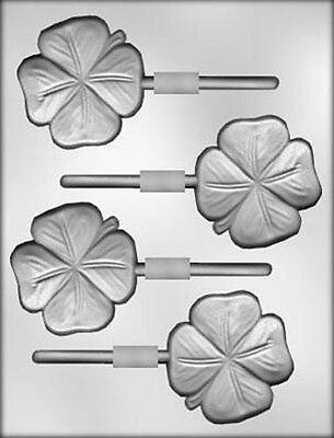 Lucky Four Leaf Clover Chocolate Sucker Candy Mold  Shamrock St. Patrick's Day