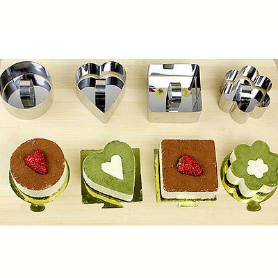 Cookie Biscuit Mousse Jelly Mold Cake Cutter Decor Mould Bake Tool Metal Steel