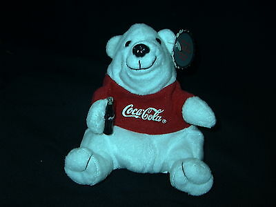 Vintage 1997 Coca-Cola Bean Bag Plush w/red tee shirt