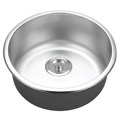 430x180mm Stainless Steel Sink Topmount Kitchen Laundry Single Bowl Clip