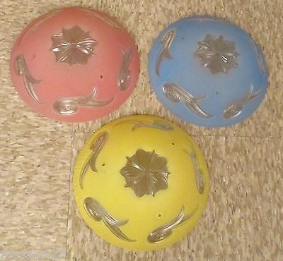 Vintage Lighting matched set 1930s hall fixtures in different colors