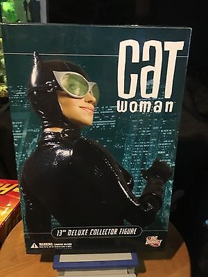 """DC Direct DC Comics - 13"""" CatWoman  Deluxe Collector Figure New in Original Box"""