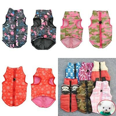 Warm Winter Pet Dog Small Puppy Clothes Padded Vest Cotton Jacket Coat Costumes