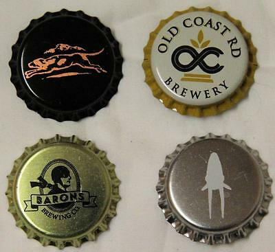 Collectible Group Of 4 Uncrimped Australian Bottle Caps/tops Group 5 - New