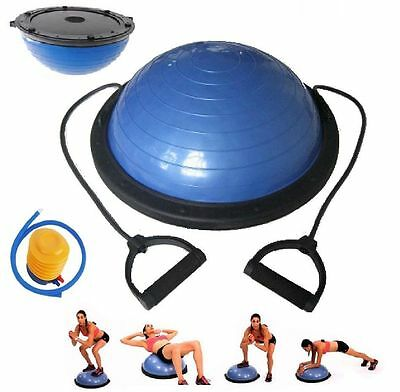 "23"" Inch Bosu Balance Ball Trainer Yoga Fitness Strength Exercise with Pump NEW"