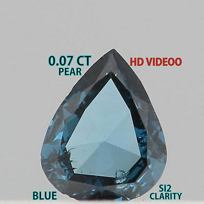0.07 Cts Natural Loose Diamond Pear Shape Blue Color K792
