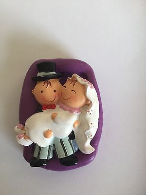Bride And Groom Silicone Mould ( Cupcake.topper.wedding.bride.groom.mr.mrs