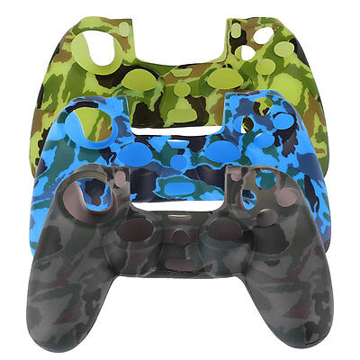 Camouflage Color Silicone Cover Case Protector For Playstation 4 PS4 Controller