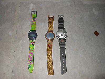 The Lost World Jurassic Park Burger King Wrist Watch lot of 3