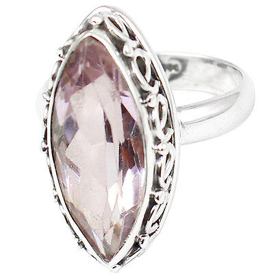 Amethyst 925 Sterling Silver Ring Jewelry Size- 8.5 SR-907