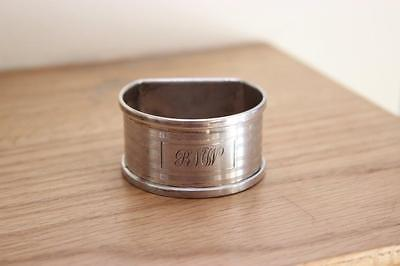 D Shaped Solid Silver Napkin Serviette Ring Birmingham 1937 Henry Griffith & Son
